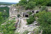The Medieval Fortress Town Chufut-calais, Crimea, Ukraine poster