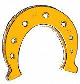 Lucky horseshoe cartoon icon