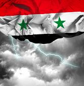 Syria waving flag on a bad day