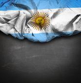 Argentina waving flag on blackboard