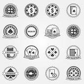 image of ace spades  - Poker Labels and Icons set  - JPG
