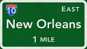 New Orleans USA Interstate Highway Sign