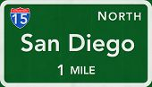 San Diego USA Interstate Highway Sign