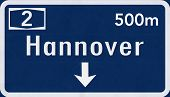 Hannover Germany Highway Road Sign