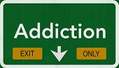Addiction Highway Road Sign Exit Only
