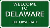 Delaware USA Welcome to Highway Road Sign