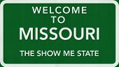 Missouri USA Welcome to Highway Road Sign