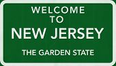 New Jersey USA Welcome to Highway Road Sign