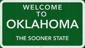 Oklahoma USA Welcome to Highway Road Sign