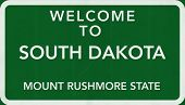 South Dakota USA Welcome to Highway Road Sign