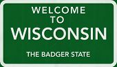 Wisconsin USA Welcome to Highway Road Sign
