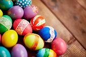 Creative Easter decorations of various colors