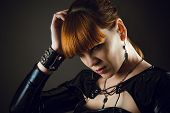 portrait of a beautiful pensive woman