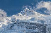 White High Snowy Mountains Of Nepal, Annapurna Region