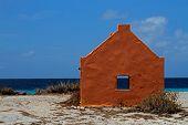 Blue sky - orange house