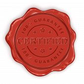 Wax Stamp Certified (clipping path included)