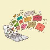 illustration of love letters