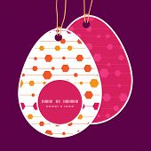 Vector abstract colorful stripes and shapes Easter egg shaped tags set template
