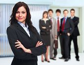 Businesswoman and Group of business people team.