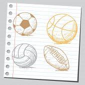 Sport balls (basket ball, volley ball and soccer ball)