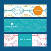 Vector colorful horizontal ogee horizontal banners set pattern background