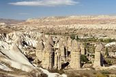 image of phallus  - Fairy tale chimneys in Love Valley near Goreme - JPG