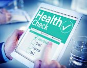 picture of check  - Digital Health Check Healthcare Concept - JPG