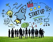 Start Up Business Launch Success Business Aspiration Concept
