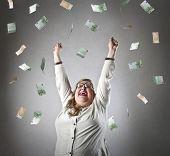 Powerful woman gaining money