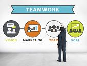 Businessman Planning Vision Strategy Connection Teamwork Concept