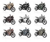 Motorcycle Motorbike Bike Riding Rider Contemporary Shiny Concept