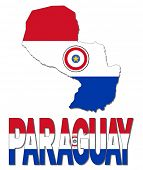 Paraguay map flag and text illustration