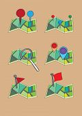 Maps Pins And Markers Vector Icon Set