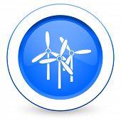 foto of windmills  - windmill icon renewable energy sign  - JPG