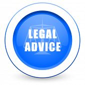 legal advice icon law sign