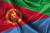 stock photo of eritrea  - Realistic flag of Eritrea - JPG