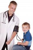 Doctor Making Boy Happy