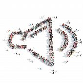 pic of speaker  - A large group of people in the shape of speaker - JPG