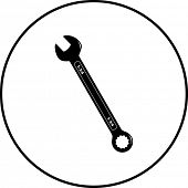 image of combinations  - combination wrench symbol - JPG