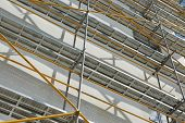 stock photo of scaffold  - repair home scaffolding building construction - JPG