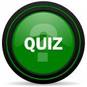 foto of quiz  - quiz green icon  - JPG