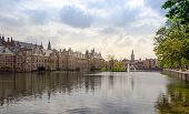 picture of prime-minister  - Famous parliament building complex Binnenhof in The Hague Netherlands - JPG