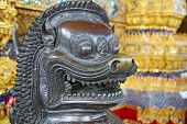 stock photo of demon  - demon in the temple bangkok asia thailand abstract cross colors step gold wat palaces warrior monster - JPG