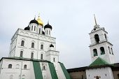 foto of trinity  - Famous Trinity cathedral in the Pskov city Russia - JPG