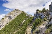 image of bavaria  - View to the summit of Aiplspitz in the Alps in Bavaria Germany - JPG