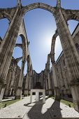 picture of carmelite  - The central nave of the Convento do Carmo in Lisbon - JPG