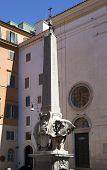 image of obelisk  - elephant statue and egyptian obelisk Rome - JPG