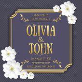 pic of sakura  - Wedding invitation card - JPG