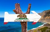 pic of bayou  - California wooden sign with Big Sur background - JPG