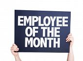 picture of employee month  - Employee of the Month card isolated on white - JPG